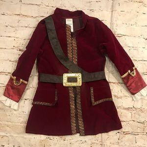 HTF Disney Store Kids Captain Hook Costume Jacket